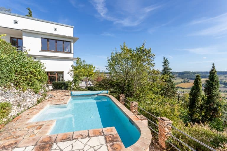 Period house, modernist style with pool and stunning view