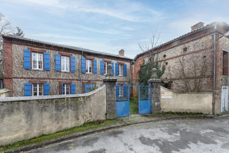 Large stone house in quiet village front