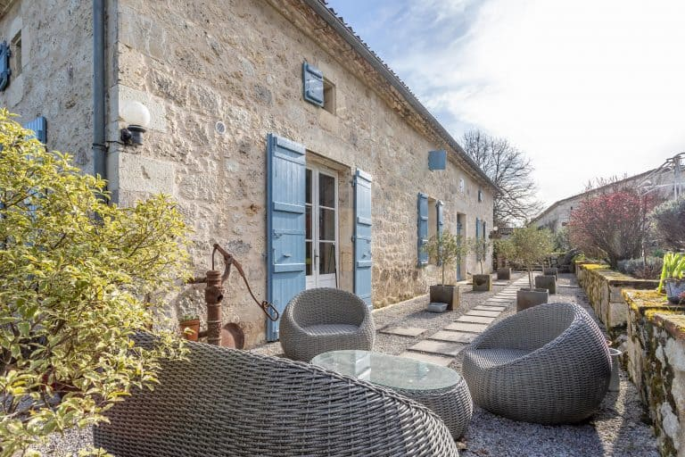 Stone farmhouse in the country
