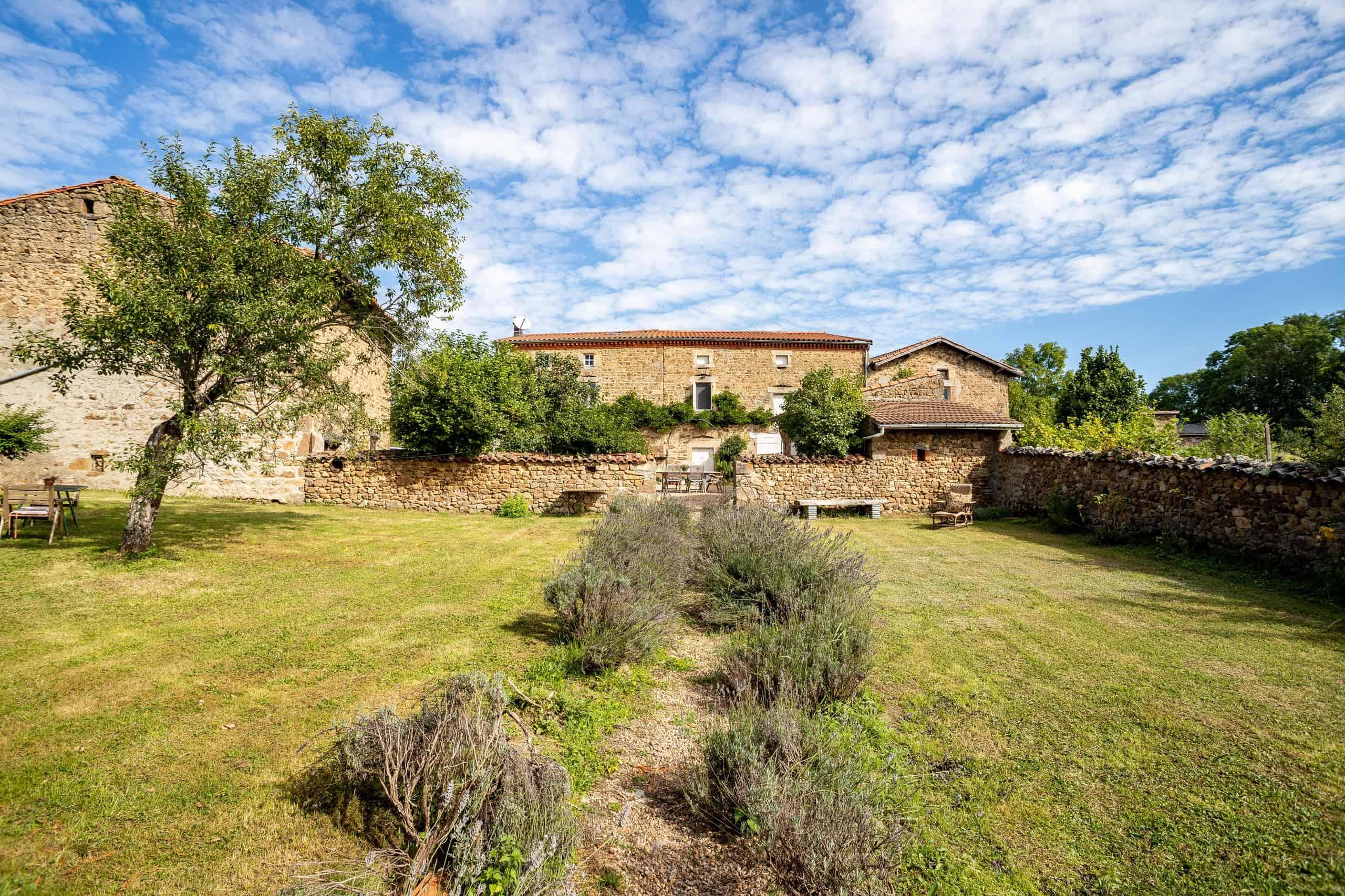 Stone farmhouse with two gites